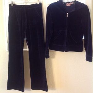 🆕Juicy Couture Tracksuit Never Worn Navy NWOT