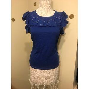 HOLLISTER Blue ruffle shirt
