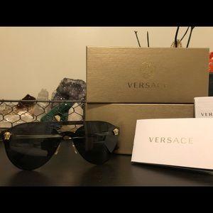 Versace mirrored brow bar glasses