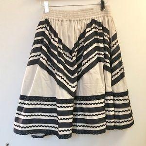 Anthropologie Waisted Stripe Blur Ribbon Skirt