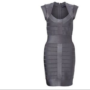 FRENCH CONNECTION Bandage Bodycon in Gray