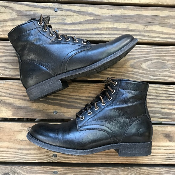 253d9f5f63 Frye Shoes   Tyler Laceup All Leather Short Ankle Boots   Poshmark