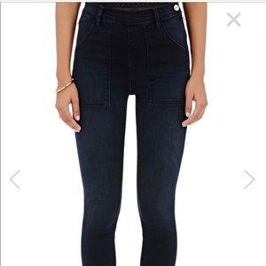 frame high waisted black skinny jeans. NWT
