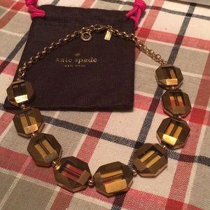 Kate spade gold link necklace