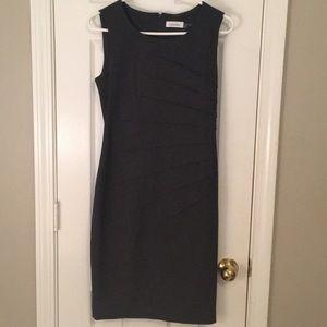 Calvin Klein dark grey work dress