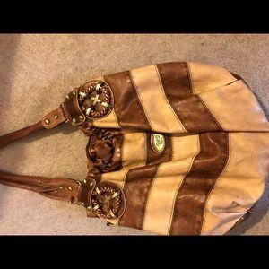 Handbags - Brown and tan bag. Good condition