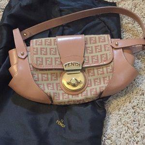 GENUINE FENDI blush shoulder bag SAKS dust bag inc