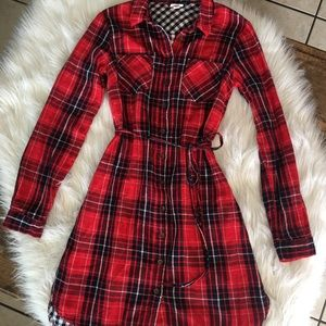 Merona plaid dress sz xs fit small too Nwot