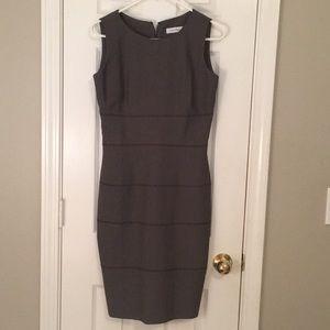 Calvin Klein grey/brown work dress