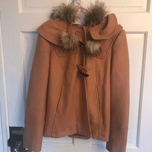 Juicy Couture Faux Fur Pom Pom P Coat
