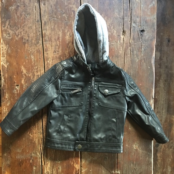 39f2542c3 outlet boutique 9d6ef 16f97 urban republic baby boy knit hooded faux ...
