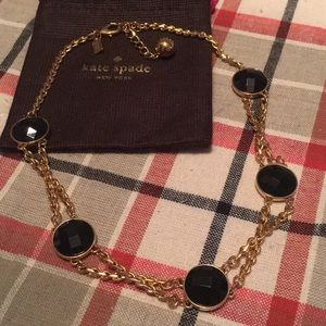 Kate spade gold and black necklace