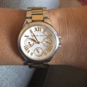 Michael Kors Silver Gold Stainless Steel Watch