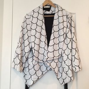 Sequin Fishscale Party Kimono Blazer by Lumiere