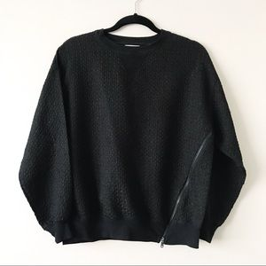 Urban Outfitters Black Zippered Sweater