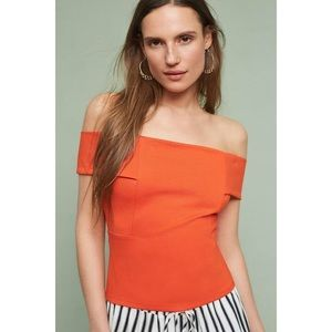 NWT Anthropologie Ponte Off The Shoulder Top