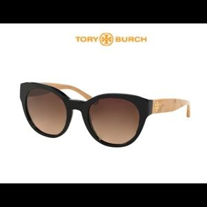 Tory Burch cat eye sunglasses. Brown with ivory