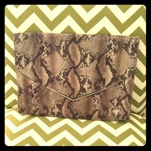 Mossimo Snakeskin Envelope Clutch/Folder/Case🐍