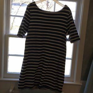 Gap xl navy and white stripe dress