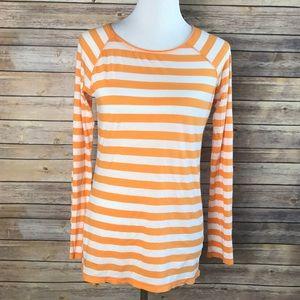 Vince Large orange striped top