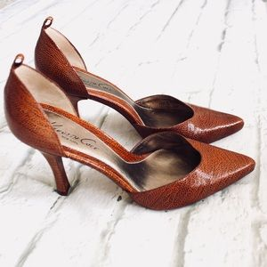 Kenneth Cole Leather Faux Snakeskin Heels