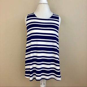 Skies Are Blue Swanly Striped Racerback Tank