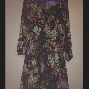 Jessica Simpson painterly Flora Laurelle Dress.