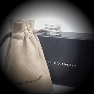 David Yurman Wide Cable Crossover Diamond Ring