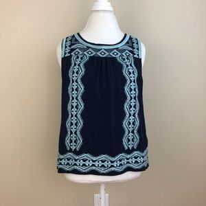 Skies Are Blue Maximilian Embroidered Top