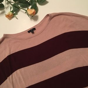 Gap | pink and maroon striped sweater