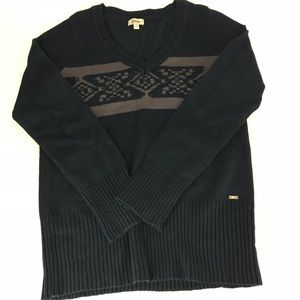 Festive Guess Navy Blue Sweater w/ Beading Detail