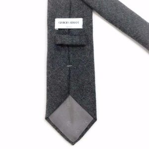 Gray Wool Men's Tie by Giorgio Armani