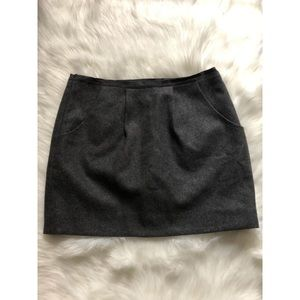 J. Crew Charcoal Wool Blend Mini Skirt 4
