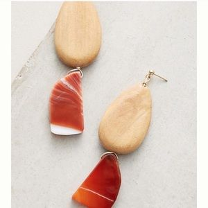 Sophie Monet Almond Agate Drop Earrings