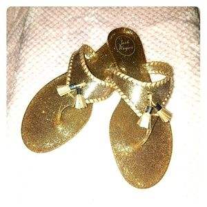 Jack Rogers Sparkly Gold Sandals