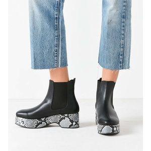 Brand New Eva Snakeskin Platform Chelsea Boot