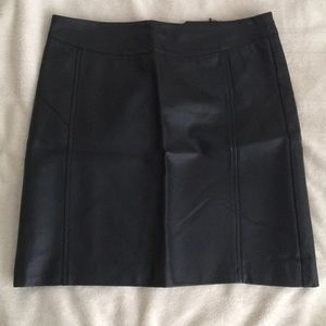 Olive & Oak Black Leather Skirt