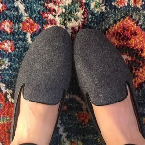 Grey faux wool loafer — never worn!