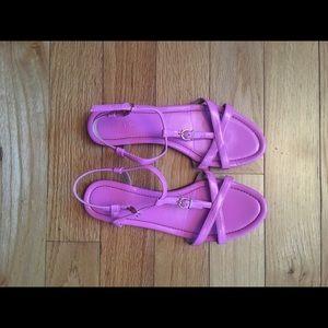 Neon Pink J. Crew sandals size 9.5