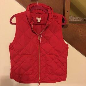 NWT JCrew Factory red excursion vest.