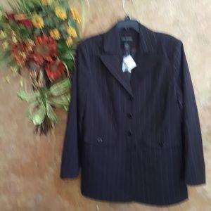 Nwts pinstriped Lane Bryant size 18 jacket