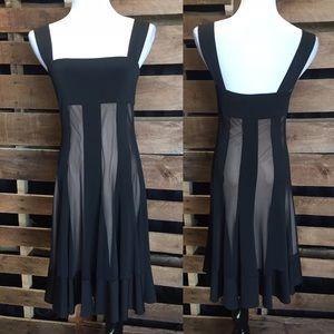 Black/cream dress