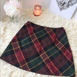 Ralph Lauren Plaid Mini Skirt.