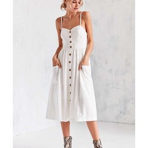 Urban Outfitters Linen Button-Up Midi Dress