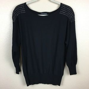 Cable & Gauge Sweater Studded Shoulders