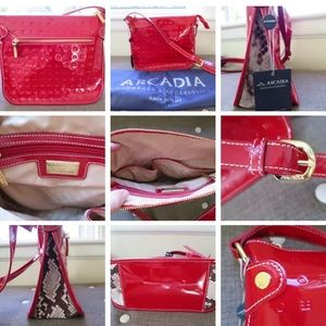 NWT Arcadia Italy Leather Crossbody Bag