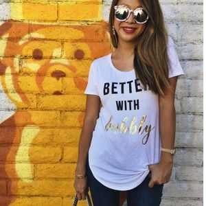 🎉SALE💓NWT Better w/ Bubbly glimmer Tee S & M