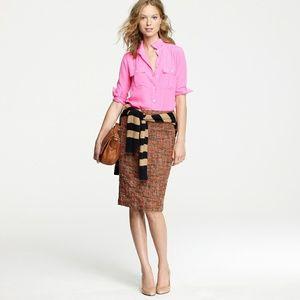 J. Crew No. 2 pencil skirt in Harvest Tweed