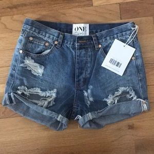 One Teaspoon Denim shorts size 24