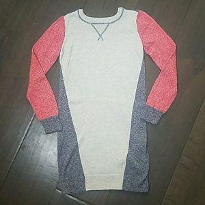 Gap Girls red navy sweater dress size L/10